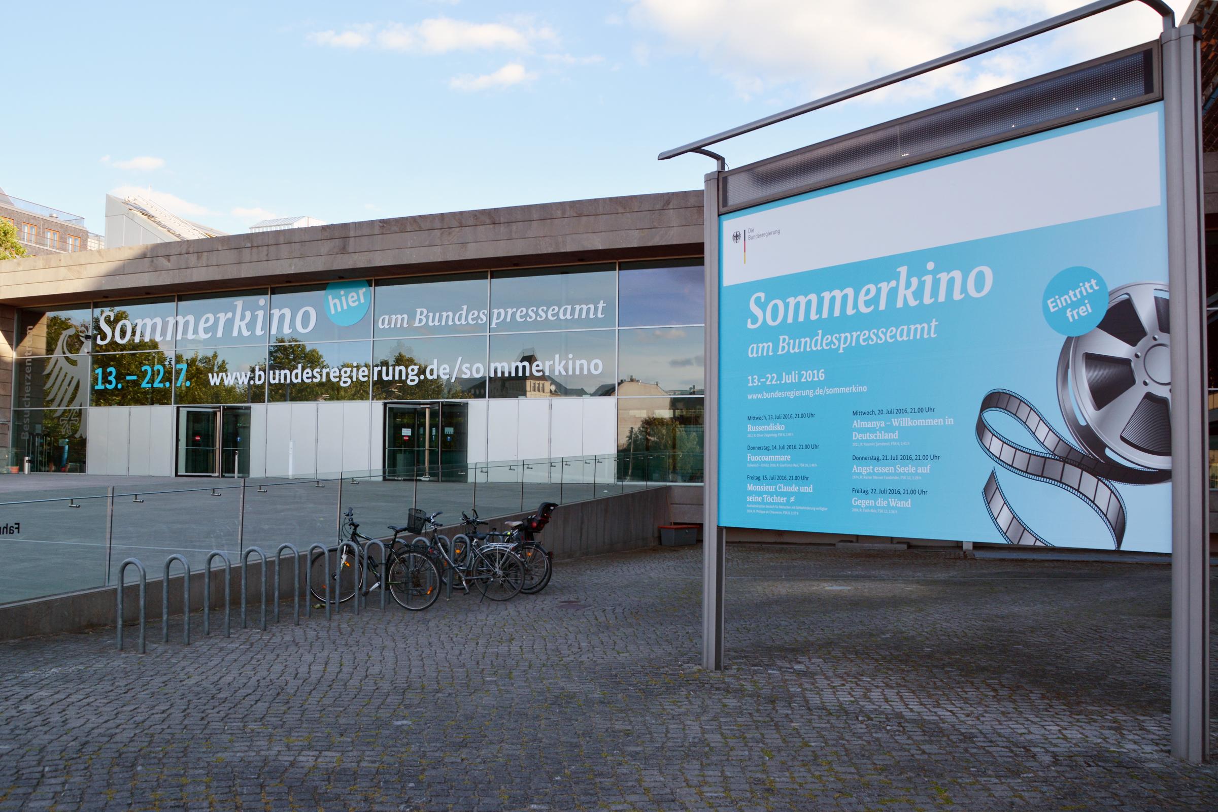 Sommerkino am Bundespresseamt. Foto: Ulrich Horb