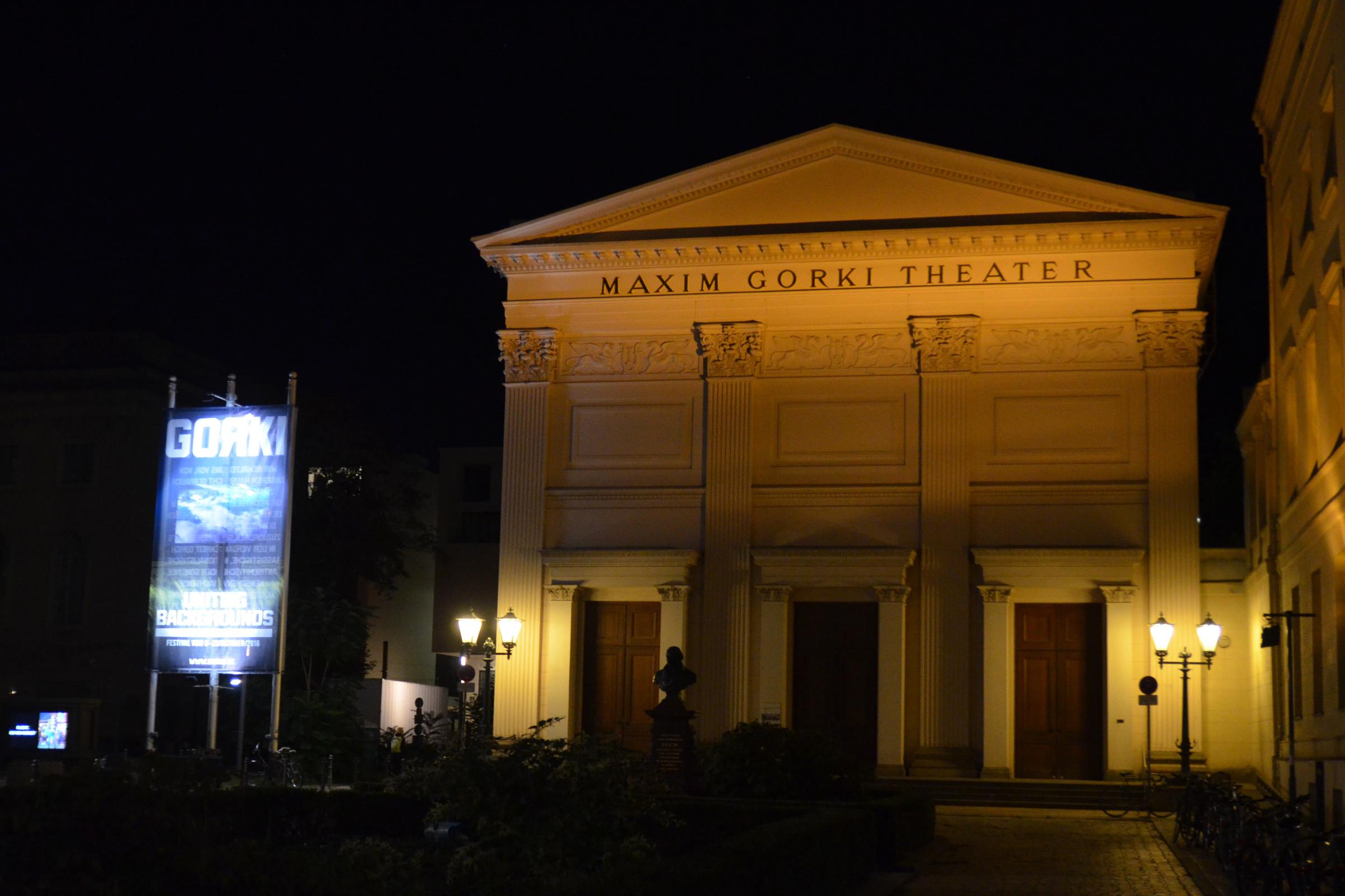 Gorki-Theater am Abend. Foto: Ulrich Horb
