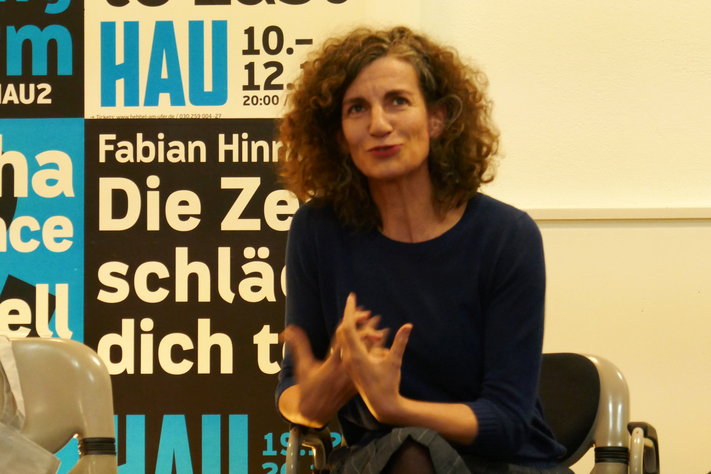 HAU-Intendantin Annemie Vanackere. Foto: Ulrich Horb