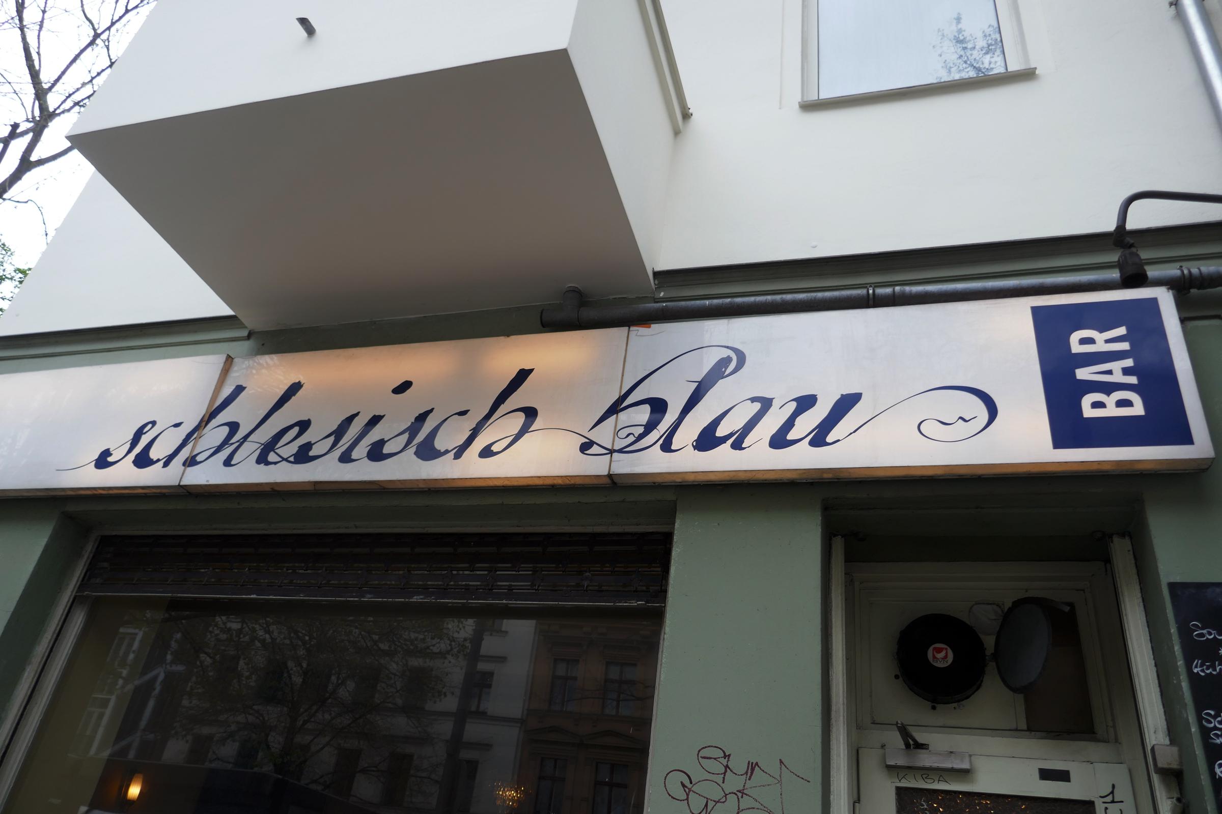 """Restaurant """"Schlesisch blau"""" in Kreuzberg. Foto: Ulrich Horb"""