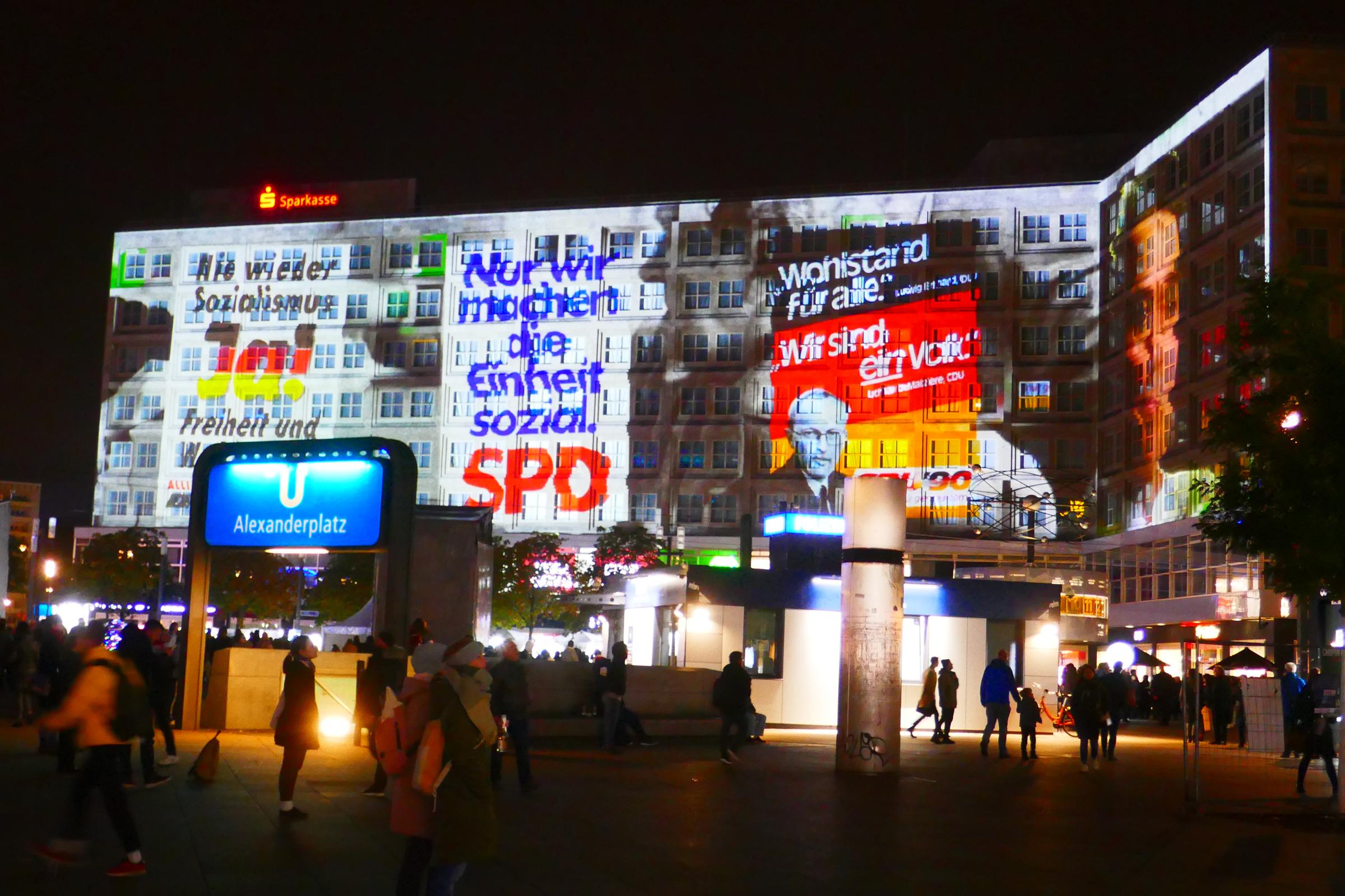 Alexanderplatz, Projektion
