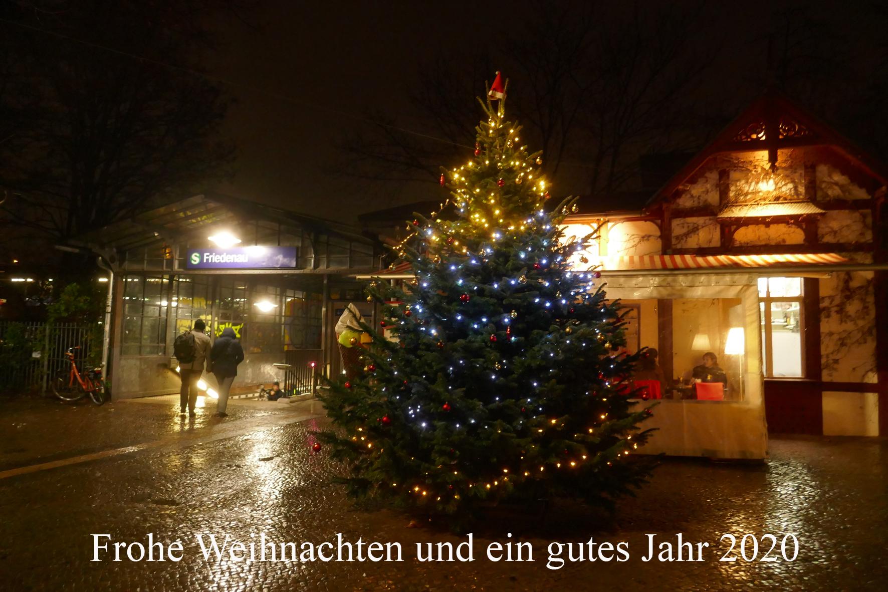 Weihnachtsbaum in Friedenau: Frohe Weihnachtstage und ein gutes Jahr 2020